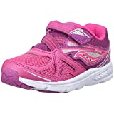 Saucony Baby Ride Sneaker (Toddler/Little Kid), Pink/Berry, 11 M US Little Kid