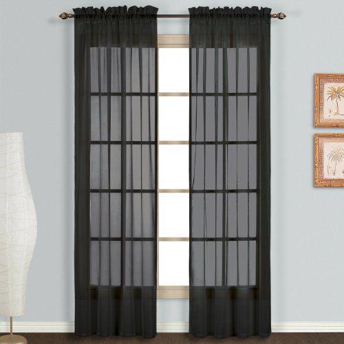 United Curtain Monte Carlo Sheer Window Curtain Panel, 59 by