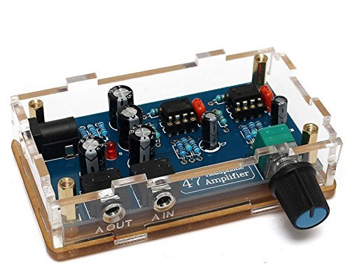 WINGONEER Portable HiFi Headphone Amplifier PCB AMP DIY Kit for Classic 47 DIY with Case