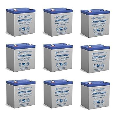 12v 5Ah UPS Battery for Interstate Batteries BSL1055 - 9 Pack