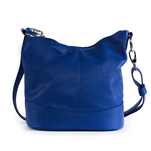 OH MY BAG - borsa a tracolla di pelle modello Beaubourg blu royal