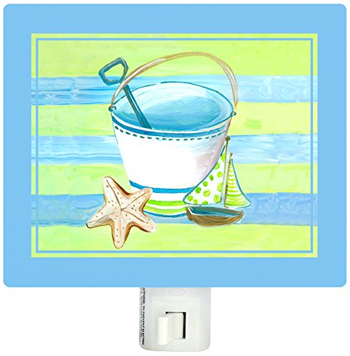 Shelly Kennedy Oopsy Daisy (BR &Nameinternal - Day At The Beach - Lime & TURQUOISE 5x4 Night Lights, by Shelly Kennedy)