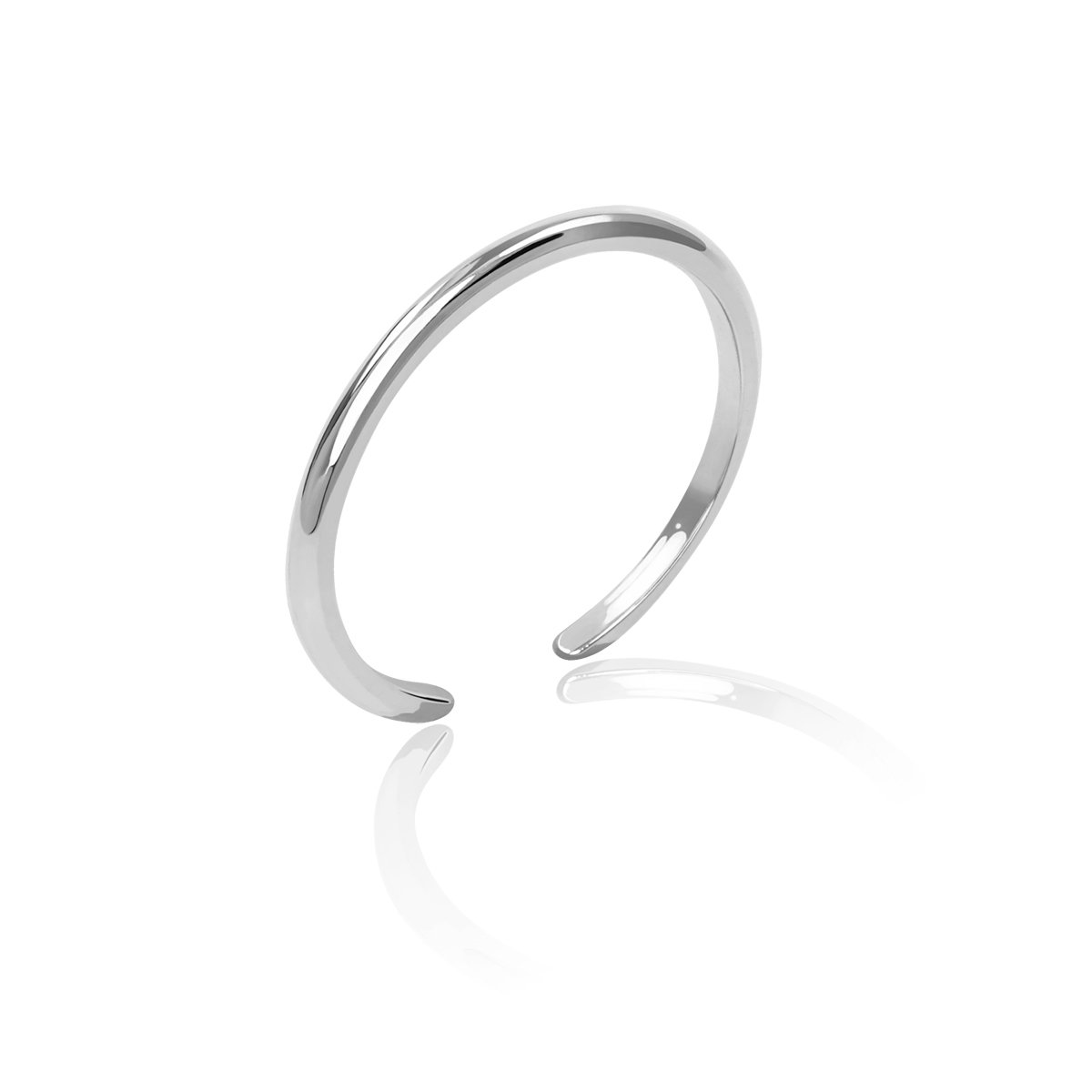 Honolulu Jewelry Company Sterling Silver Band Toe Ring 1mm-4mm