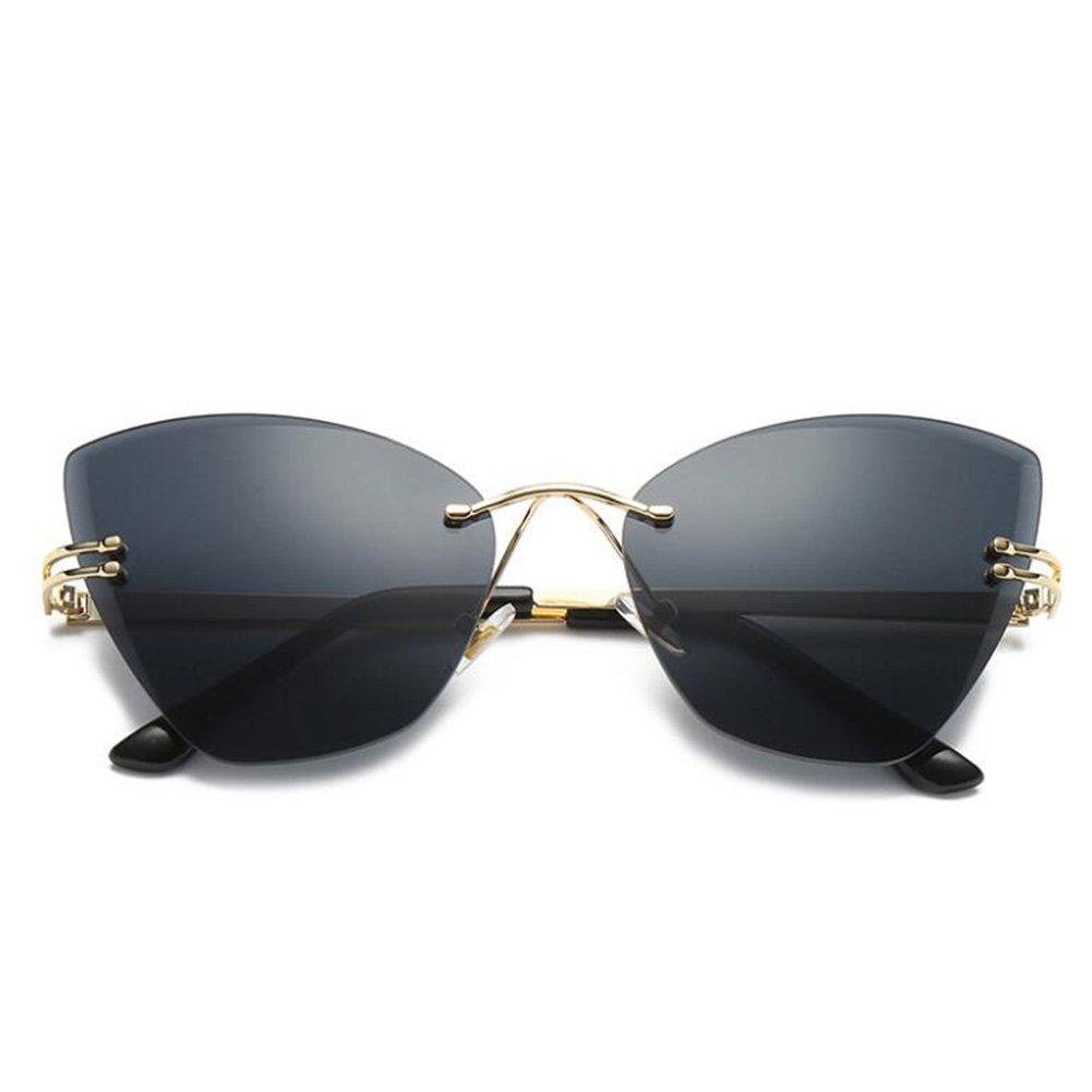 New Wayfarer Sonnenbrille Lady Vintage Sonnenbrille polarisierte Sonnenbrille Kategorie Mode rahmenlose Sonnenbrille UV400 Schutzgläser für Herren Damen ( Color : B ) vyH4E8UOKP