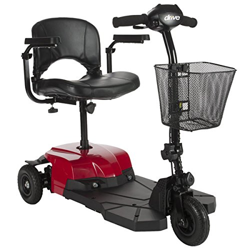 Drive Medical Bobcat 3-Wheel Compact Transportable Scooter - Red