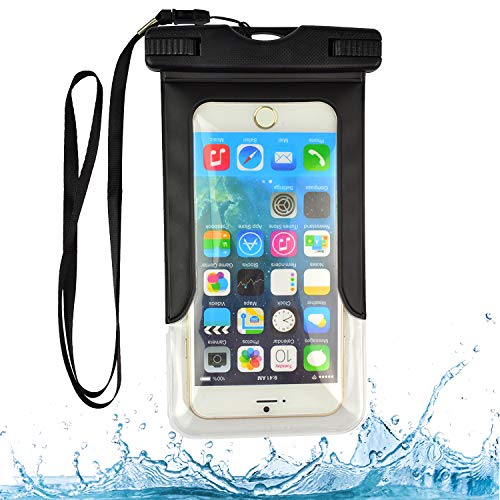 Vinyl Pouch 5.5 (VG Case Black Waterproof Cell Phone Armband Case Dry Bag Pouch Suitable for iPhone Xs Max 6.5