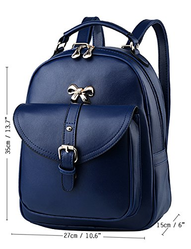 Menschwear Moda Mujer Chica funda mochila escolar bolsa Rosa Blanco Diamante Azul