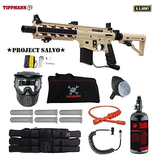 Custom Rail 98 Adjustable Sight (MAddog Tippmann U.S. Army Project Salvo Corporal HPA Paintball Gun Package - Tan)