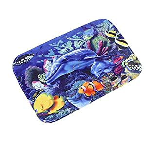 """luniwei 16x 24""""océano único cocina decoración de interior Felpudo puerta entrada alfombra baño antideslizante Mat"""