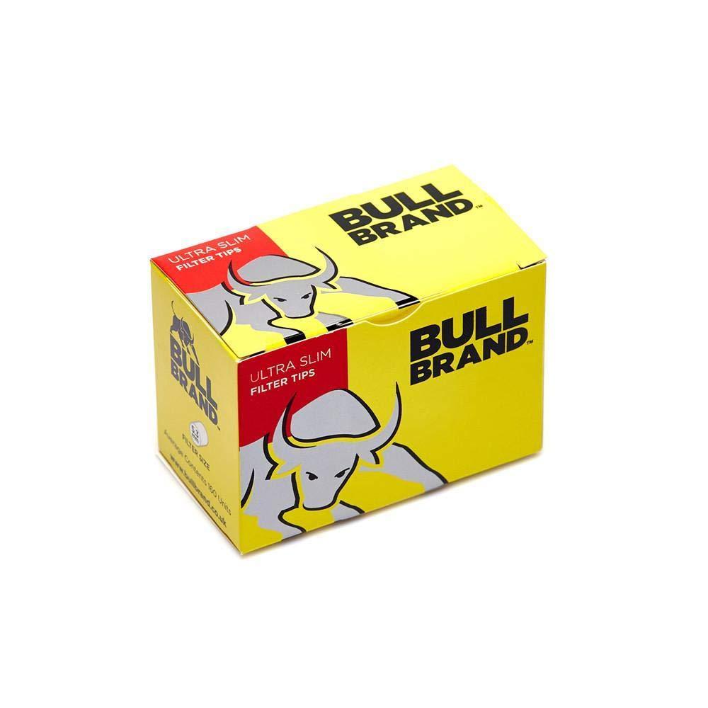 BULL BRAND Ultra Slim Filter 160 Tips 10 Pack