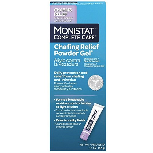 MONISTAT Complete Care Chafing Relief Powder Gel 1.5 oz (Pack of 4) by Monistat