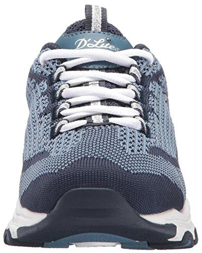 Skechers D'Lites Fan Knit Biggest Navy Sneakers Women's Low Top rtwA7wq5