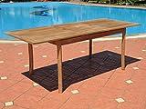 Pebble Lane Living Grade A Teak Extendable Patio Table