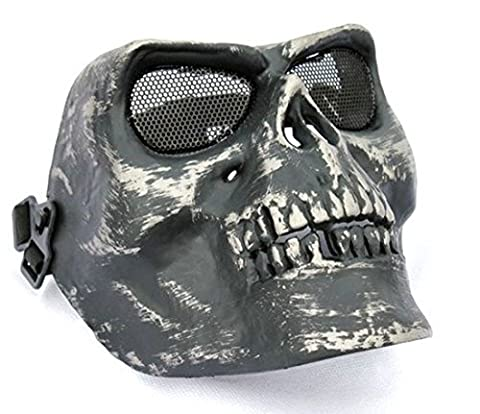 Skull Mask Military Skeleton Warrior Mask Horror Imitation Halloween Party Props U.s. Army Tactical Cs Full Face Protective (Cherub Mask)