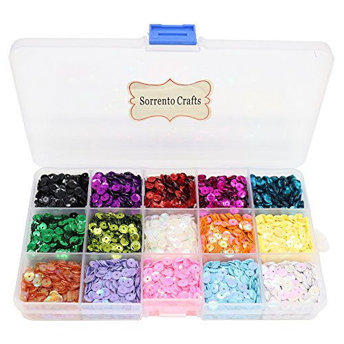 (5mm Mix 15 Colors Rainbow Cup Sequin for Wedding Decoration (1box/lot))