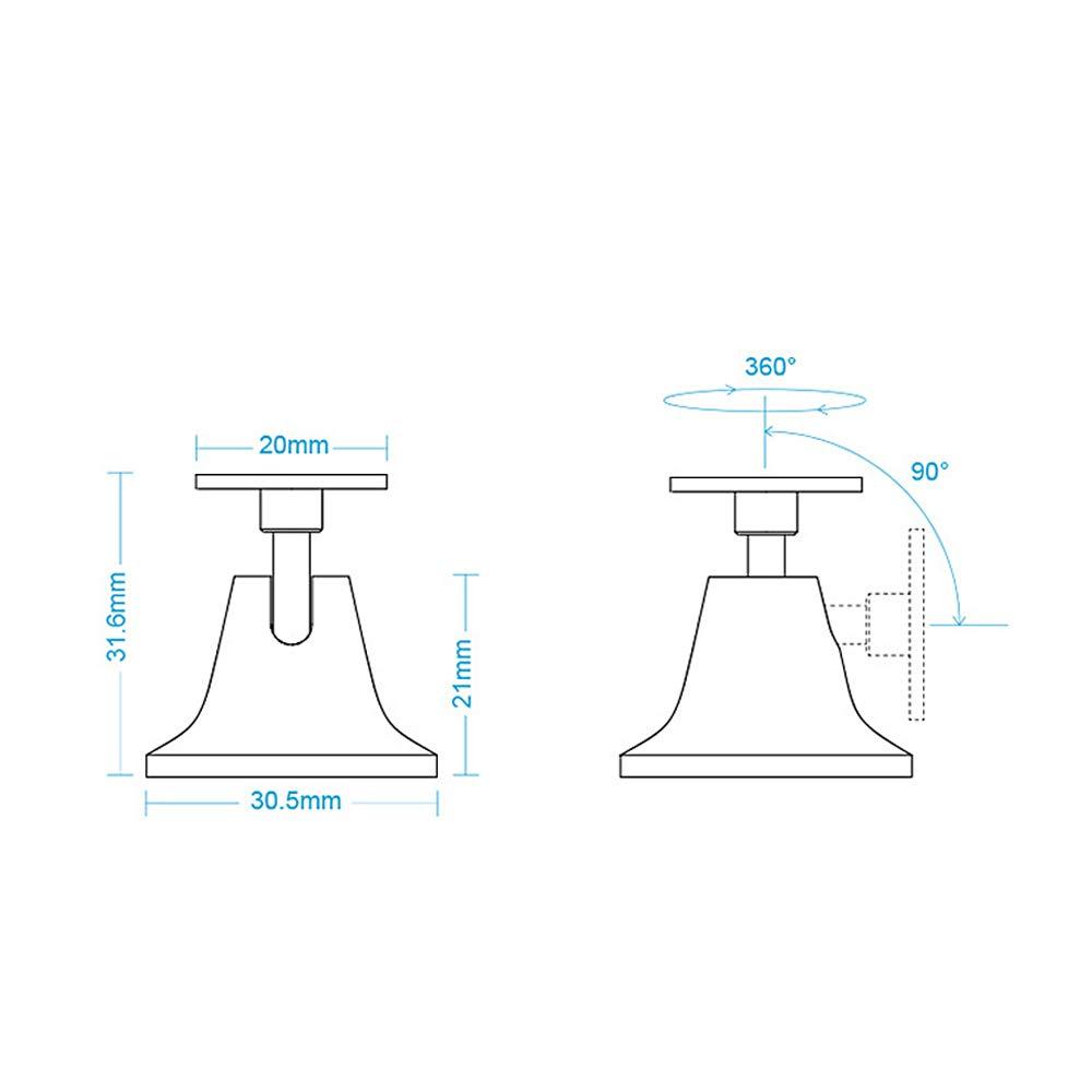 Kshzmoto Kit de Sensor de Movimiento Sensor de Movimiento del Cuerpo Humano Base Base 360 /° Rotaci/ón para Mijia Sensor del Cuerpo Humano Smart Home Supplies