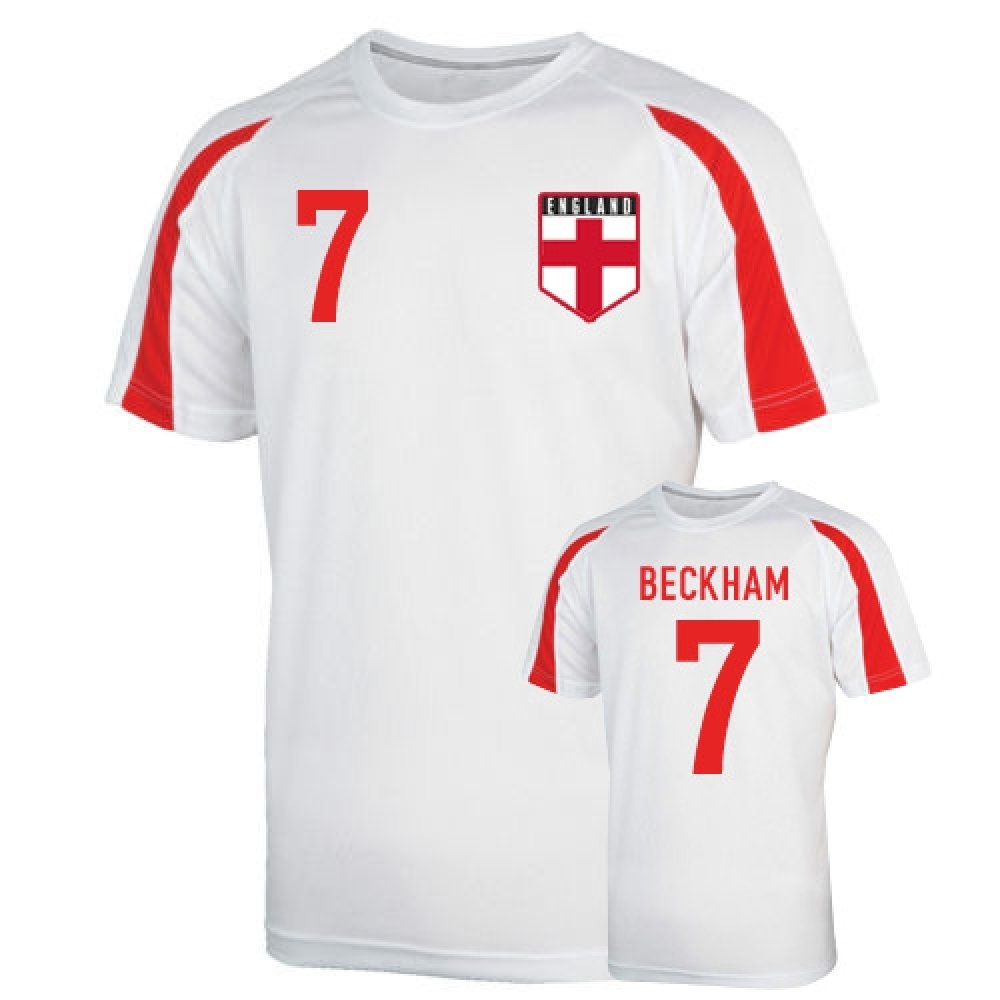 England Sports Training Jersey (beckham 7) Kids B01M29UYUK XLB (12-13 Years)|White White XLB (12-13 Years)
