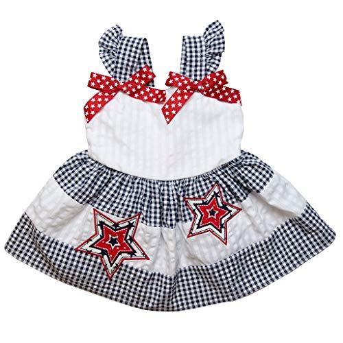 Seersucker Sundress - Good Lad Toddler Thru 4/6X Girls Navy and White Seersucker July 4th Sundress (2T)