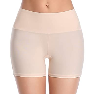 49ef0541290 Shapewear Shorts for Women Underwear Seamless Shaping Boyshort Panties  Smooth Slip Short Panty (Beige,
