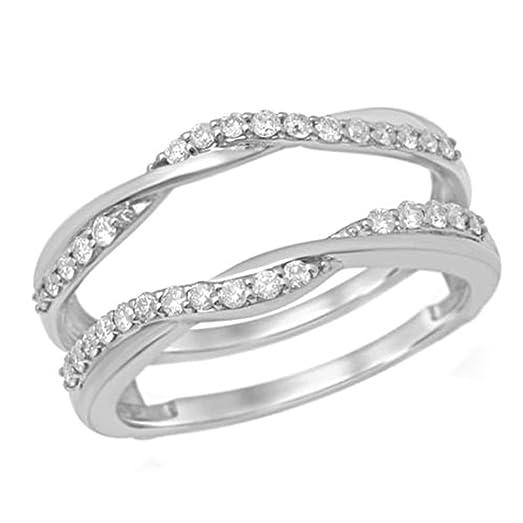 Amazoncom 10K White Gold 14 ct Diamond Anniversary Wedding Band