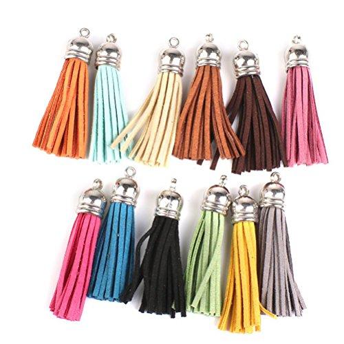 Pixnor Tassel Multi Colors Pendants Leather