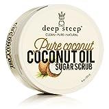 Deep Steep Coconut Oil Sugar Scrub, Pure, 8 Fluid Ounce