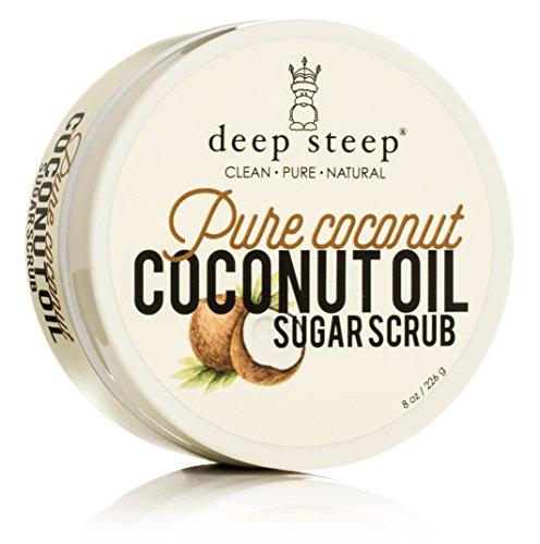 Deep Steep Coconut Oil Sugar Scrub, Pure, 8 Fluid Ounce (Coconut Oil Sugar Scrub compare prices)