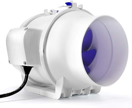 Hty Ventilador del conducto del Ventilador de Escape, silencioso y Potente Humo del Extractor Ventilador del baño Ventilación del Ventilador de ventilación (Size : 4 ...