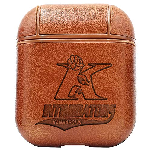 - Kannapolis INTIMIDATORS (Vintage Brown) Engraved Air Pods Protective Leather Case Cover - a New Class of Luxury to Your AirPods - Premium PU Leather and Handmade exquisitely by Master Craftsmen