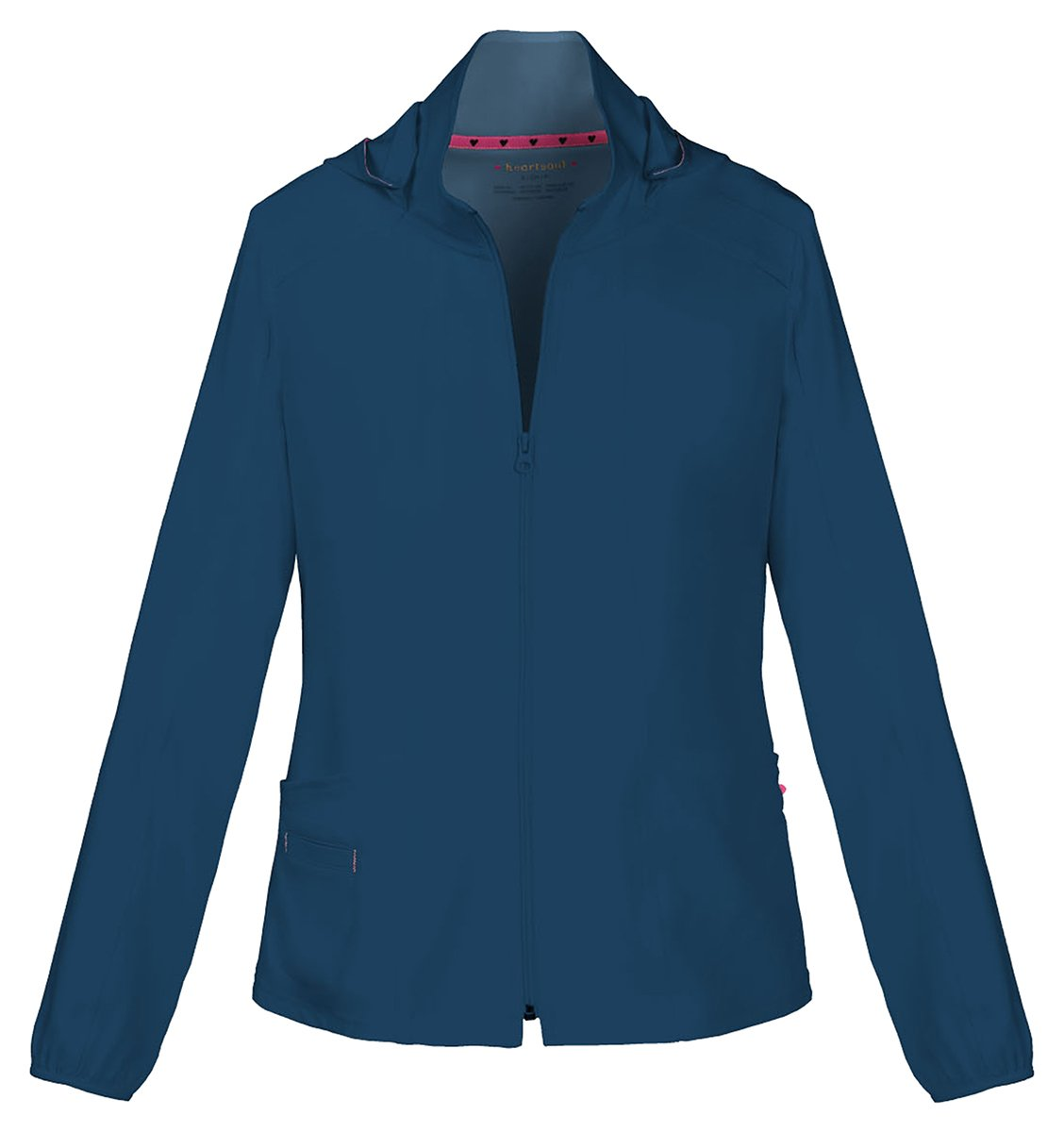 HeartSoul Women's Warm-Up Detachable Hooded Jacket_Navy_Large,20310