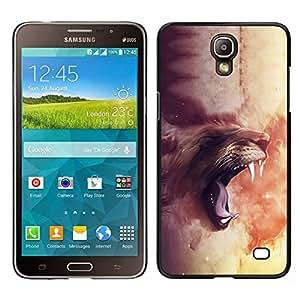 // PHONE CASE GIFT // Duro Estuche protector PC Cáscara Plástico Carcasa Funda Hard Protective Case for Samsung Galaxy Mega 2 / Majestic Lion Roar /