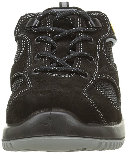 """Abeba 31701-37 talla 37"""" baja zapato seguridad ESD-uni6 pulgada - negro"""