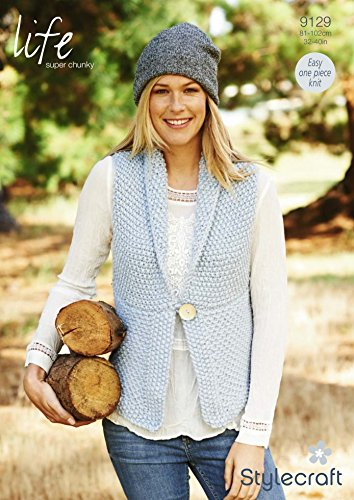 Stylecraft Ladies Waistcoat Life Knitting Pattern 9129 Super Chunky