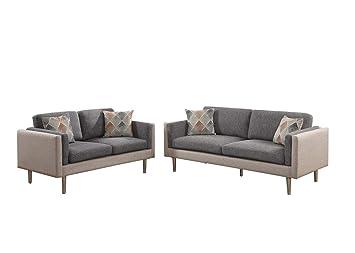 Amazon.com: Benzara BM168694 Plushed Cushions Sofa with ...