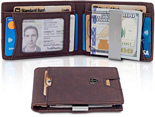 d4b158bdd TRAVANDO Mens Wallet Money Clip PHOENIX Front Pocket Slim RFID Bifold Gifts