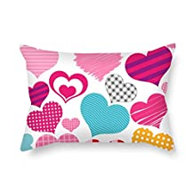 Love Pillow Covers 18 X 26 Inches / 45 By 65 Cm For Home Office Monther Lover Home Office Seat Gf With Two Sides