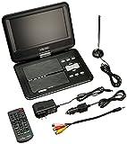 "Envizen Digital Quartet ED8890A Portable Television and Dvd Player, 9"" LCD, Black"