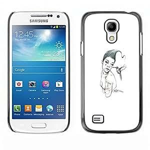 EJOY---Cubierta de la caja de protección la piel dura para el / Samsung Galaxy S4 Mini i9190 / --Pink & Bird