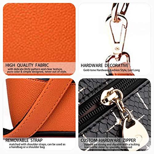 y Shoppers de clutches Mujer Amarillo Bolsos Carteras mano bolsos y DEERWORD de hombro bandolera PB67qww5