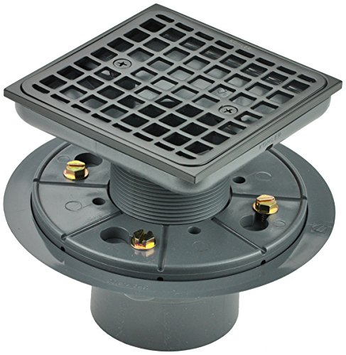 Kohler K-9136-2BZ Tile-In Square Shower Drain, Oil Rubbed Bronze by Kohler
