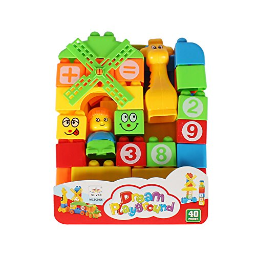 Planet of Toys Boys and Girls Intellect Junior School Bag Building Blocks for Kids   40 Pieces
