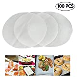 (Set of 100) Non-Stick Round Parchment Paper 12 Inch Diameter,Baking Paper Liners for Round Cake Pans Circle