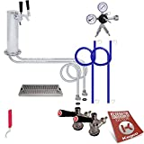 Kegco Deluxe Tower Kegerator Conversion Kit No Tank - DTCK-2-542-2_NT