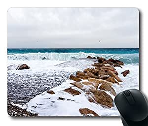 Mouse Pad Beach 44 Desktop Laptop Mousepads Comfortable Office Mouse Pad Mat Cute Gaming Mouse Pad by Maris's Diary