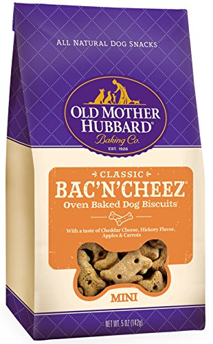 Old Mother Hubbard Classic Crunchy Natural Dog Treats, Bac'N'Cheez Mini Biscuits, 5-Ounce Bag