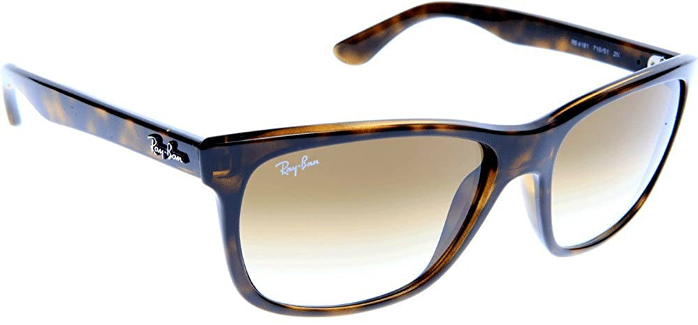 55a6aae224 Ray Ban Men s Rb4181 Light Tortoise Frame Brown Gradient Lens Plastic  Sunglasses  Amazon.co.uk  Clothing