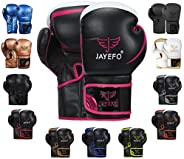 Jayefo Glorious Boxing Gloves Muay Thai Kick Boxing Leather Sparring Heavy Bag Workout MMA Pro Leather Gloves