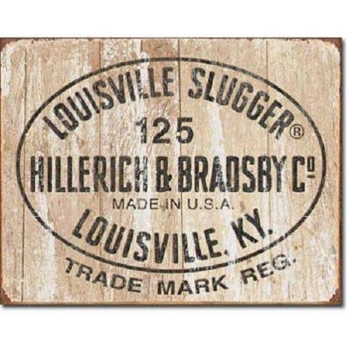 ShopForAllYou Vintage Decor Signs Louisville Slugger 125 Logo Baseball Distressed Retro Vintage Metal Tin Sign New ()