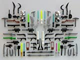 custom guns - Guns for LEGO Minifigures. Lot of 78. Brand New! Lightsabers Glow in the Dark Accessories