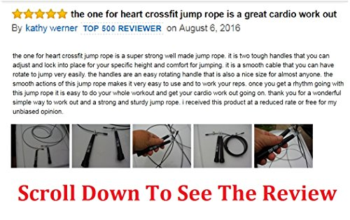 Jump-Rope-Adjustable-Cable-Best-for-Crossfit-Speed-Jump-Rope-Double-Unders-Boxing-MMA-WOD-Cardio-Workout-Speed-Skipping-Fast-Exercise-and-Fitness-Training-For-Men-Women-Adults-Jumping-Rope